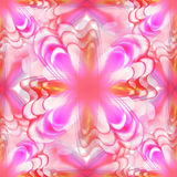 Kaleidoscope abstract pink butterfly decoration Royalty Free Stock Image