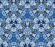 Kaleidoscope abstract seamless pattern, background. Composed of colored geometric shapes. Useful as design element for texture and artistic compositions Stock Photos