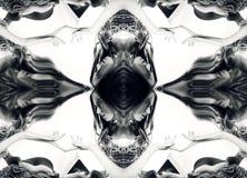 kaleidoscope Abstrakt montage av en härlig ung kvinna på whi Royaltyfri Bild