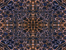 Kaleidoscope animal fur pattern Stock Photography