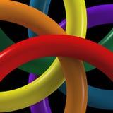 Kaleidoscope arragement of hangers Royalty Free Stock Photos