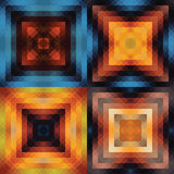 Kaleidoscope background set Royalty Free Stock Photos