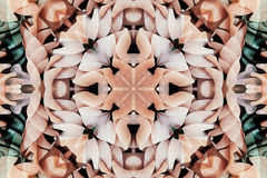 Kaleidoscope with beautiful ornamental of color Stock Photos