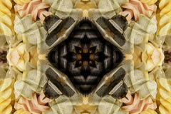 Kaleidoscope with beautiful ornamental of color Royalty Free Stock Photography
