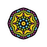 Kaleidoscope big bud. Oriental pattern illustration. Flower background Royalty Free Stock Photos
