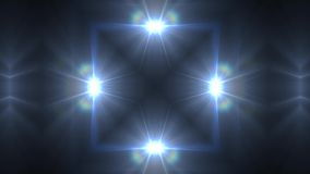 Kaleidoscope light. Kaleidoscope blue light pattern spotlights on the dark background stock video footage