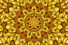 Kaleidoscope brown and yellow. Kaleidoscope designed for relaxing leisure Royalty Free Stock Image