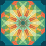 Kaleidoscope colorful seamless tile pattern background Royalty Free Stock Photos