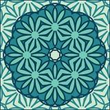 Kaleidoscope colorful seamless tile pattern background Stock Image