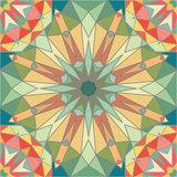 Kaleidoscope colorful seamless tile pattern background Royalty Free Stock Images