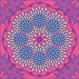 Kaleidoscope colorful seamless tile pattern background Stock Photos