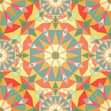 Kaleidoscope colorful seamless tile pattern background Royalty Free Stock Image