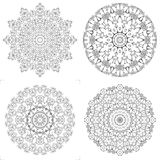 Kaleidoscope coloring for children and adults Stock Photo