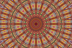 Kaleidoscope of colour. And pattern Stock Photo