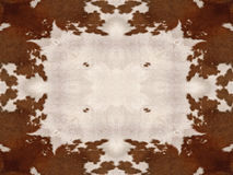 Kaleidoscope Cow Hide Pattern. Brown and white kaleidoscope cow hide pattern Royalty Free Stock Images