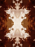 Kaleidoscope Cow Hide Pattern. Brown and white kaleidoscope cow hide pattern Stock Photo