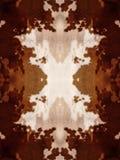 Kaleidoscope Cow Hide Pattern Stock Photo