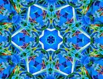 Blue Stars and Yellow Jackets Kaleidoscope stock photos