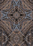 Kaleidoscope cross:  barbed wire Royalty Free Stock Photos