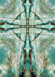 Kaleidoscope cross, blue chert layers Stock Photos
