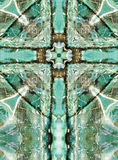 Kaleidoscope cross, blue chert layers Stock Photography