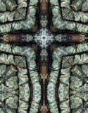 Kaleidoscope cross, blue chert layers Stock Image