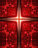 Kaleidoscope Cross:  car taillight. Kaleidoscope cross created from photo of interior of car taillight Royalty Free Stock Photo