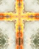 Kaleidoscope cross:  Charlotte fountain Royalty Free Stock Photo