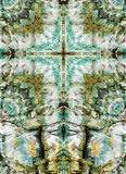 Kaleidoscope cross, chert layers Royalty Free Stock Image