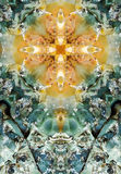 Kaleidoscope cross, chert layers Royalty Free Stock Photography