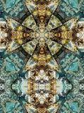 Kaleidoscope cross, chert layers Royalty Free Stock Images