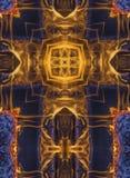 Kaleidoscope cross:  fire Stock Image