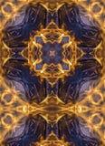Kaleidoscope cross:  fire Stock Photo