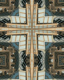 Kaleidoscope cross: Hearst Tower2. Kaleidoscope cross from photo of Hearst Tower, Charlotte, North Carolina Royalty Free Stock Photo