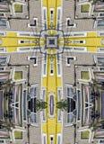 Kaleidoscope cross:  jellybean houses Stock Photo