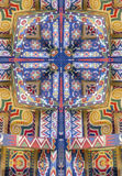 kaleidoscope cross:  painted ceiling detail Royalty Free Stock Image