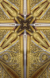 Kaleidoscope cross: Thai pavilion detail stock image