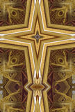 Kaleidoscope cross: Thai pavilion stock images