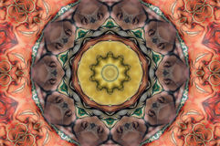 Kaleidoscope design. Computer generated kaleidoscope design pattern Stock Image