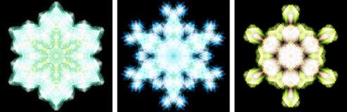 Kaleidoscope design like snow crystal Stock Image