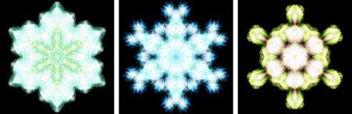 Kaleidoscope design like snow crystal Stock Image