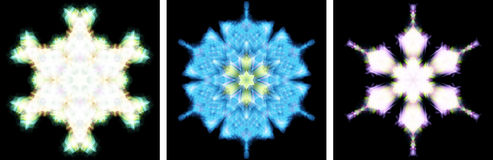 Kaleidoscope design like snow crystal Royalty Free Stock Photo