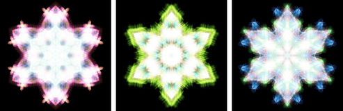 Kaleidoscope design like snow crystal Stock Images