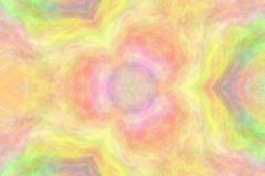 Kaleidoscope effect for an abstract geometrical wallpaper background with vibrant colors stock photo