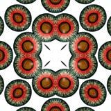 Kaleidoscope Eyes Halloween ghosts. Seamless texture. Eye Halloween ghosts. Looking into the eye of fear Stock Photo