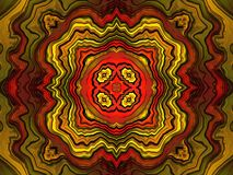 Kaleidoscope fiery. Bright and fiery wavy kaleidoscope Stock Image