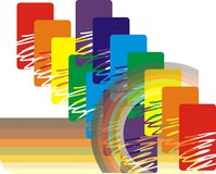 Kaleidoscope of figures. On the exclusive rainbow without a background stock illustration