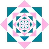 Kaleidoscope Flower Triangle Stock Photos