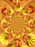 Kaleidoscope fruits Stock Images
