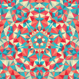 Kaleidoscope geometric colorful pattern. Abstract background Stock Image